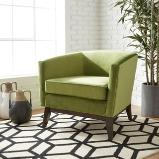 Wonderful Percy Accent Chair Moss Green Velvet