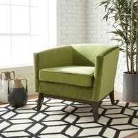 Clay Alder Home Percy Accent Chair Moss Green Velvet