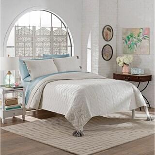 Marble Hill Nadia 100-percent Cotton Tassels 3-piece Quilt Set