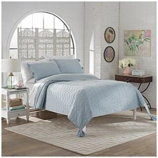 Marble Hill Nadia 100% Cotton Tassels 3-piece Quilt Set