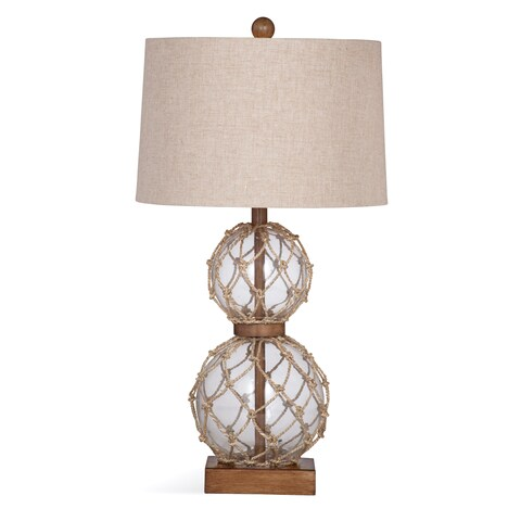 Seaside 28-inch Clear Glass Table Lamp