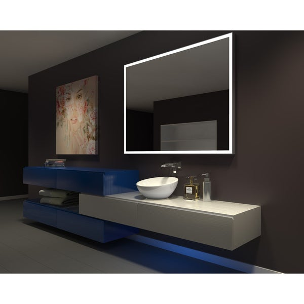 Charming IB MIRROR DIMMABLE Lighted Bathroom Mirror GALAXY 60 In X 45 In 6000 K