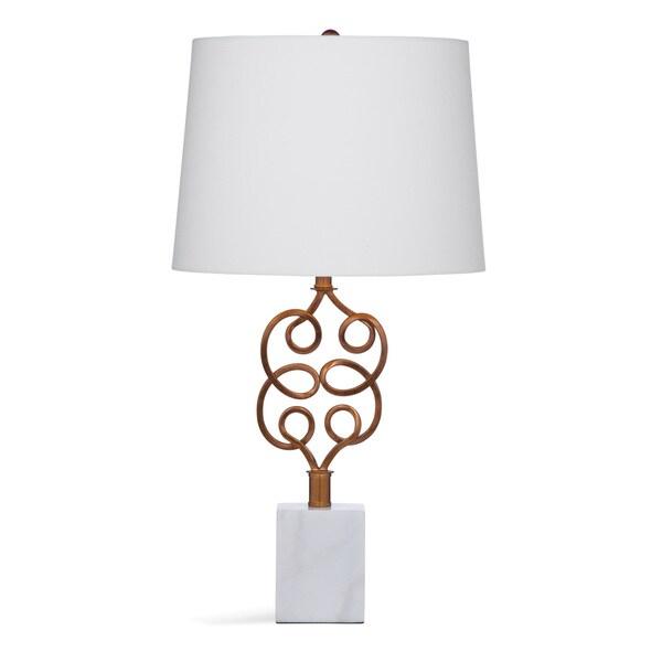 Alisha 26-inch White and Gold Acryllic/Metal Table Lamp