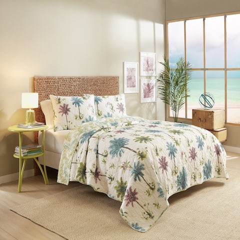 Vue Arcadia 100% Cotton Reversible Quilt Set - Multi