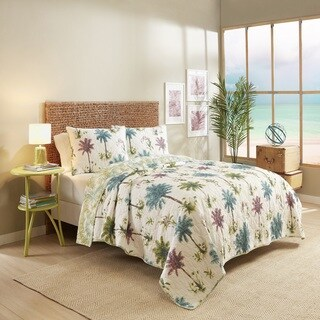Vue Arcadia 100% Cotton Reversible 2 Piece Quilt Set