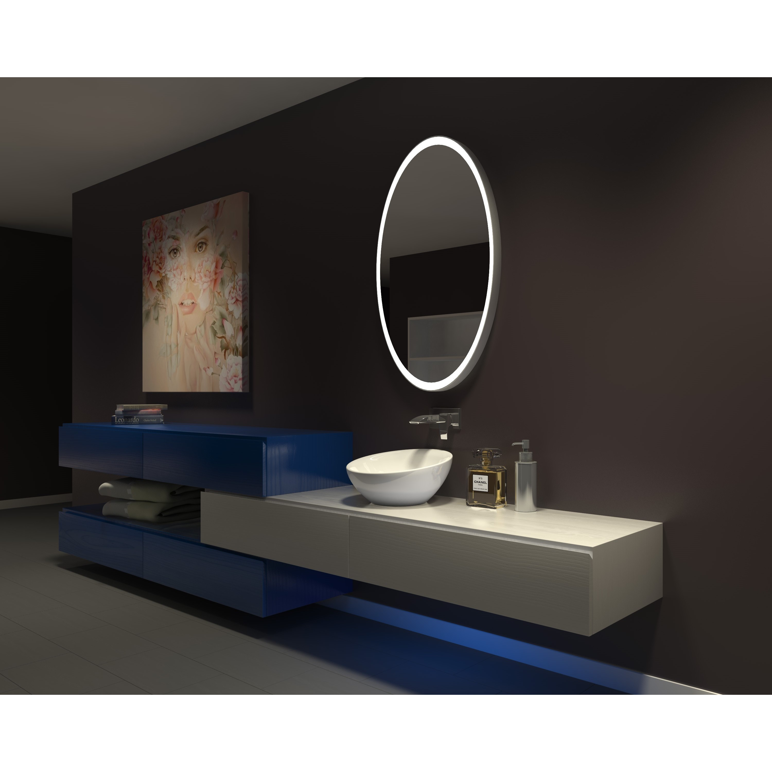Marvelous Ib Mirror Dimmable Lighted Bathroom Mirror Galaxy 30 In X 48 In 3000 K Download Free Architecture Designs Scobabritishbridgeorg