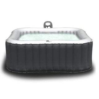 MSPA Alpine Hot Tub, 6 Person Grey Inflatable Bubble Spa / M-019LS