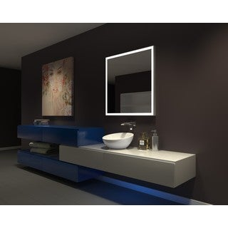 IB MIRROR DIMMABLE Lighted Bathroom Mirror GALAXY 36 In X 36 In 6000 K