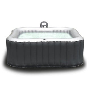 MSPA Alpine Hot Tub, 4 Person Grey Inflatable Bubble Spa / M-009LS