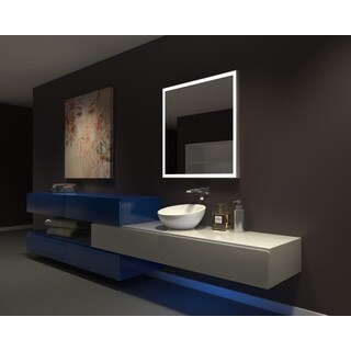 IB MIRROR DIMMABLE Lighted Bathroom Mirror GALAXY 36 In X 36 In 3000 K