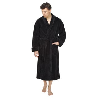 Men's Shawl Fleece Bathrobe Turkish Soft Plush Robe (More options available)