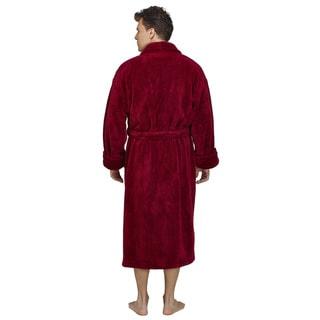 Men's Shawl Fleece Bathrobe Turkish Soft Plush Robe