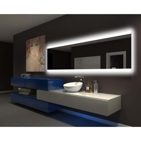 IB MIRROR DIMMABLE Backlit Bathroom Mirror PARIS 96 In X 28 In 6000 K