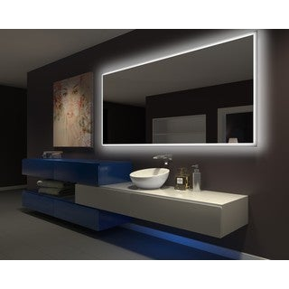 IB MIRROR DIMMABLE Backlit Bathroom Mirror RECTANGLE 100 In X 45 In 3000 K