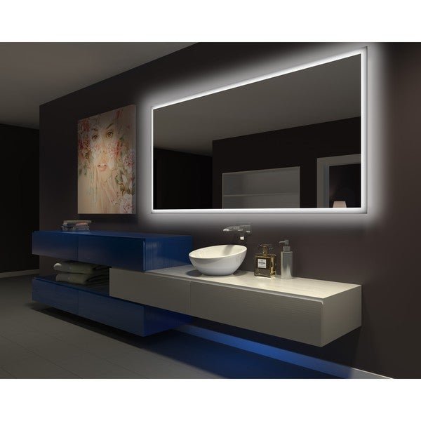 IB MIRROR DIMMABLE Backlit Bathroom Mirror RECTANGLE 85 In X 40 In 6000 K