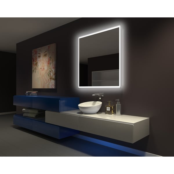 Shop Ib Mirror Dimmable Backlit Bathroom Mirror Rectangle