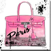 BY Jodi 'Pink Paris' Giclee Stretched Canvas Wall Art