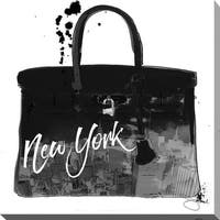 BY Jodi 'Black New York' Giclee Stretched Canvas Wall Art