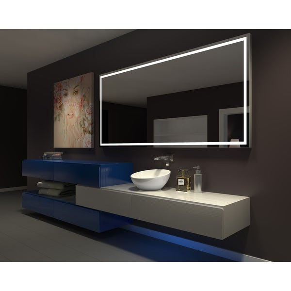 Superbe IB MIRROR DIMMABLE Lighted Bathroom Mirror Harmony 100 In X 45 In 6000 K