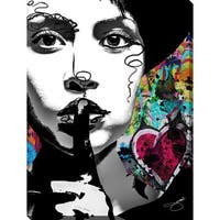 "BY Jodi ""Shhhh"" Giclee Stretched Canvas Wall Art"