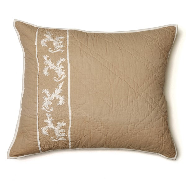 Jessica Beige Cotton Quilted Sham
