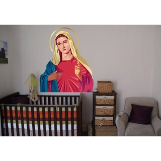 Full Color Blessed Virgin Mary Full Color Decal, Virgin Mary Full color sticker, Sticker Decal size 48x65