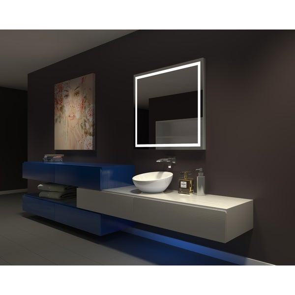 IB MIRROR DIMMABLE Lighted Bathroom Mirror Harmony 40 In X 35 In 6000 K