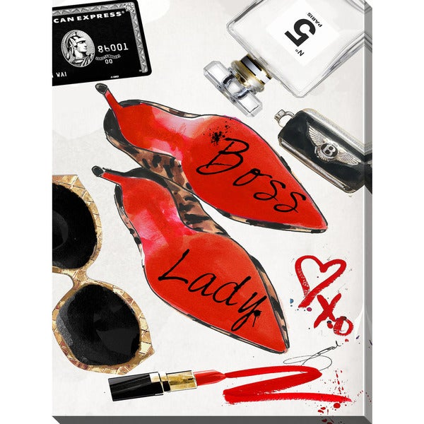 3bee16d520e Shop BY Jodi 'Boss Lady' Giclee Stretched Canvas Wall Art - On Sale ...