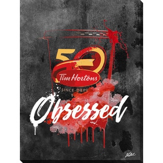 PPI Studio 'Drink Tim Hortons - Inverted' Giclee Stretched Canvas Wall Art