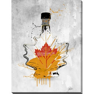 "PPI Studio ""Drink Maple Syrup"" Giclee Stretched Canvas Wall Art"