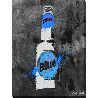 PPI Studio 'Drink Labatt Blue Bottle - Inverted' Giclee Stretched Canvas Wall Art
