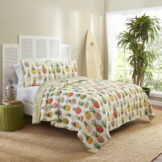 Vue Kokomo Reversible Cotton 3-piece Quilt Set