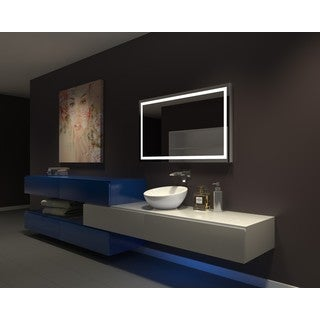IB MIRROR DIMMABLE Lighted Bathroom Mirror Harmony 48 In X 28 In 3000 K