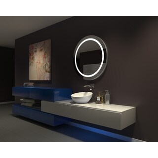 IB MIRROR DIMMABLE Lighted Bathroom Mirror Harmony 36 In X 36 In 6000 K