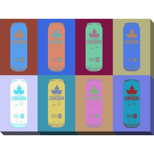 PPI Studio 'Molson Canadian Cans Popart 2' Giclee Stretched Canvas Wall Art