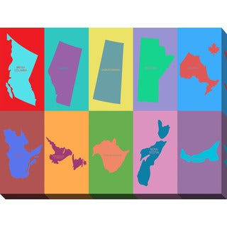 PPI Studio 'Canadian Provinces' Giclee Stretched Canvas Wall Art