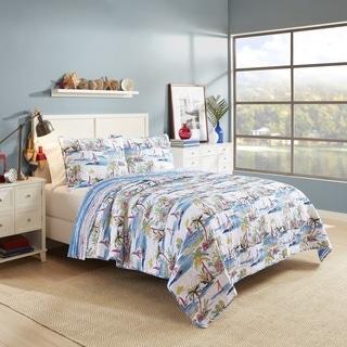 Vue Second Wind Reversible Cotton 3-piece Quilt Set
