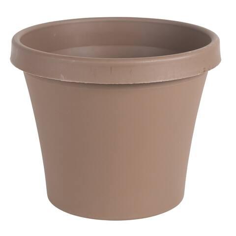 Bloem Terra 10-inch Chocolate Resin Pot Planter