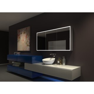 IB MIRROR DIMMABLE Lighted Bathroom CABINET Galaxy 60 In X 28 In X 5 1/4 In 3000 K