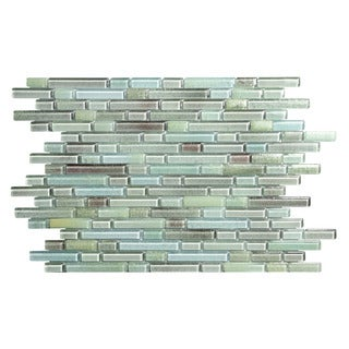 Hi-Fi Blue Glass Mosaic Offset Linear Tile (Pack of 5 Sheets)