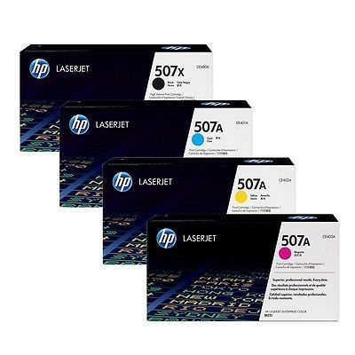 HP CE400X,CE401A,CE402A,CE403A: Black, Cyan, Magenta, Yellow Toner Cartridges (Pack of 4)