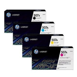 HP CE400X,CE401A,CE402A,CE403A: Black, Cyan, Magenta, Yellow Toner Cartridges (Pack of 4)