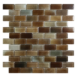 "Hi-Fi 1"" x 2"" Offset Brick Glass Mosaic Tile (5 sheets per case)"