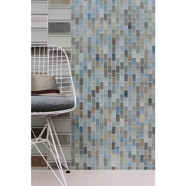 Shop Hi Fi Offset Brick Glass Mosaic Tile Free Shipping
