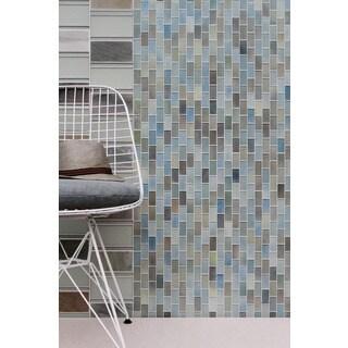Hi-Fi Offset Brick Glass Mosaic Tile
