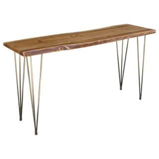 Freeform Console Table with Iron Legs