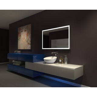 IB MIRROR DIMMABLE Lighted Bathroom Mirror GALAXY 48 In X 28 In 3000 K