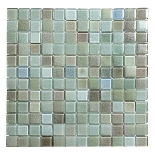 Hi-Fi Blue Glass 1 x 1 Square (5 sheets per case) Mosaic Tile