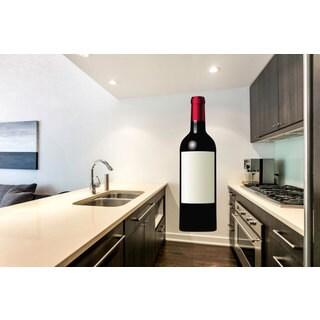 Full Color Wine Full Color Decal, Wine Bottle Full Color Sticker, Wine Decal Sticker Decal size 48x76