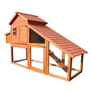 Lovupet Chicken Poultry XLarge Coop Hen House Rabbit Hutch